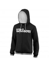 Толстовка Wilson M Team Script FZ Hoody/Bk/Wh