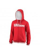 Толстовка Wilson M Team Script FZ Hoody/Red/Wh