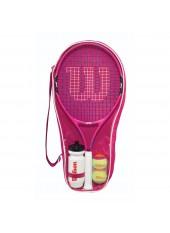 Теннисная ракетка Wilson Burn PINK Starter Set 25