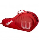 Чехол Wilson Junior 3 Pack Rd/Wh